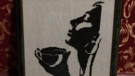 картина ′Девушка и кофе′