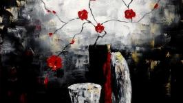 Абстракция,арт ′Красное и черное′
