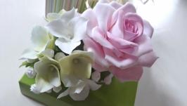 заколка - Квітковий  мікс  (японська полімерна глина deco clay)