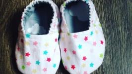 Двусторонние моксы, пинетки для новорождённых (для девочки)