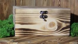 тут изображено Шкатулка из дерева ′Старинный сундучок′