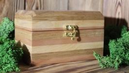 тут изображено Шкатулка из разных пород дерева ′Дорога к лепрекону′