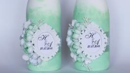 Свадебное шампанское с инициалами