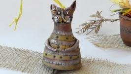 Кот Этно колокольчик в виде кота