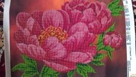 Вышивка бисером ′Пионы′