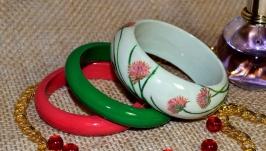 Комплект дерев'яних браслетів ′Запашна конюшина′