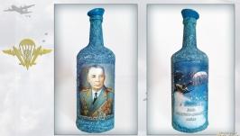 Подарок десантнику на день ВДВ Сувенирная бутылка Никто кроме нас