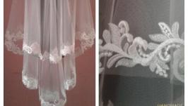 Свадебная фата с росшитым кружевом