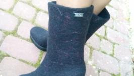 Сапожки валенки из шерсти Этна