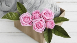 Шпильки Poзы розовые 7 шт
