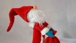 новогодняя игрушка Дед Мороз с мешком