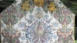 Текстильная сумка-ридикюль. ′Гранатовый цветок′