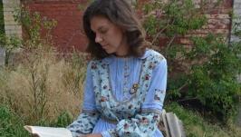 Платье с подъюбником ′Моя деревенька′