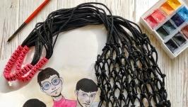 Модна авоська еко торба сумка сплетена зі шнура