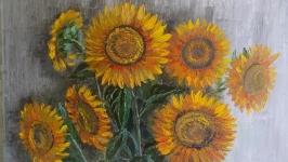 Картина з 7 соняшниками