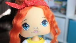 Апельсинка. Интерьерная кукла.