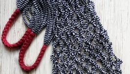Авоська эко сумка шоппер из трикотажной пряжи