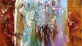 Абстракция,арт ′Старый город. Поздняя осень′