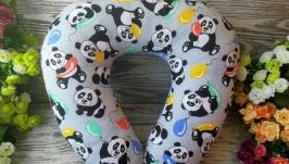 Автомобильная подушка веселые панды, 41 см * 34 см