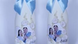 Свадебное шампанское с фотографией