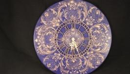 Часы настенные ′ Барокко в синих тонах′