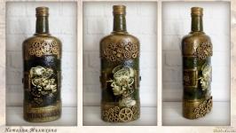 Стимпанк бутылка ′Механический мираж′ Подарки в стиле steampunk