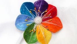 брошь Цветик семицветик