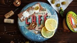 Сервировочная сырная доска Кафе
