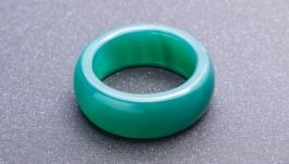 Кольцо из агата Малахит