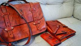 Портфель мужской (в комплекте ежедневник, портмоне, ключница )
