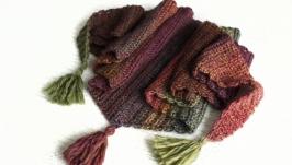 Треугольный шарф с кисточками Шерстяной мягкий шарф