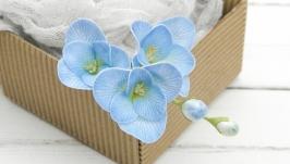 Шпильки Фрезия синяя