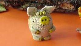 Свинья фигурка поросёнок