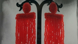 Серьги Оскар-водопад ′Кровавая Мэри′