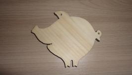 Заготовка-подвеска деревянная поросенок Нуф-Нуф