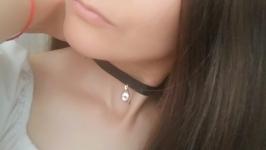 Кожаный чокер ′Crystal′