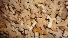 Крестик из дерева (ясень) 50 шт
