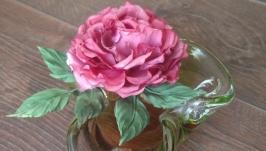 Роза из натурального шелка