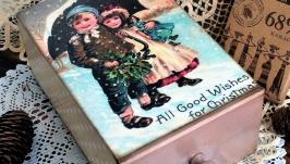 Шкатулка- спичечный коробок С Рождеством!