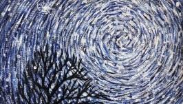 Звездная ночь. Энергетическая живопись от автора. 24*30 см