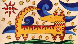 Волшебная собака. Энергетическая живопись от автора