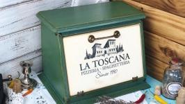 Хлебница из дерева ′Тоскана′. На заказ