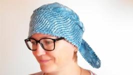 Повойник платок в технике синель