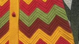 Вязаное крючком пальто на заказ Handmade Knitting Arm_knitting Hand_knit