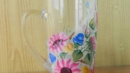 Чашка Розовые подсолнухи