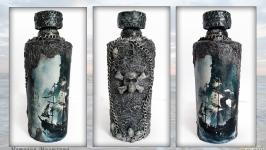 Декор бутылки «Летучий голландец» Декор дома на Хэллоуин