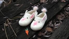 Валяные тапочки Зайцы кролики