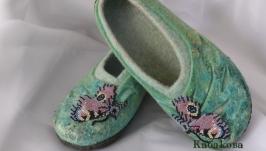 Домашние тапочки - туфельки ′ Отражение ′