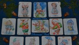 Магниты-открытки Свинки и Свинтусы