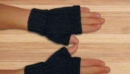 Митенки - перчатки мужские вязаные универсальные